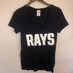 PINK by Victoria Secret Rays Baseball Shirt Small